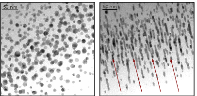 Elongation of gold nanoparticles